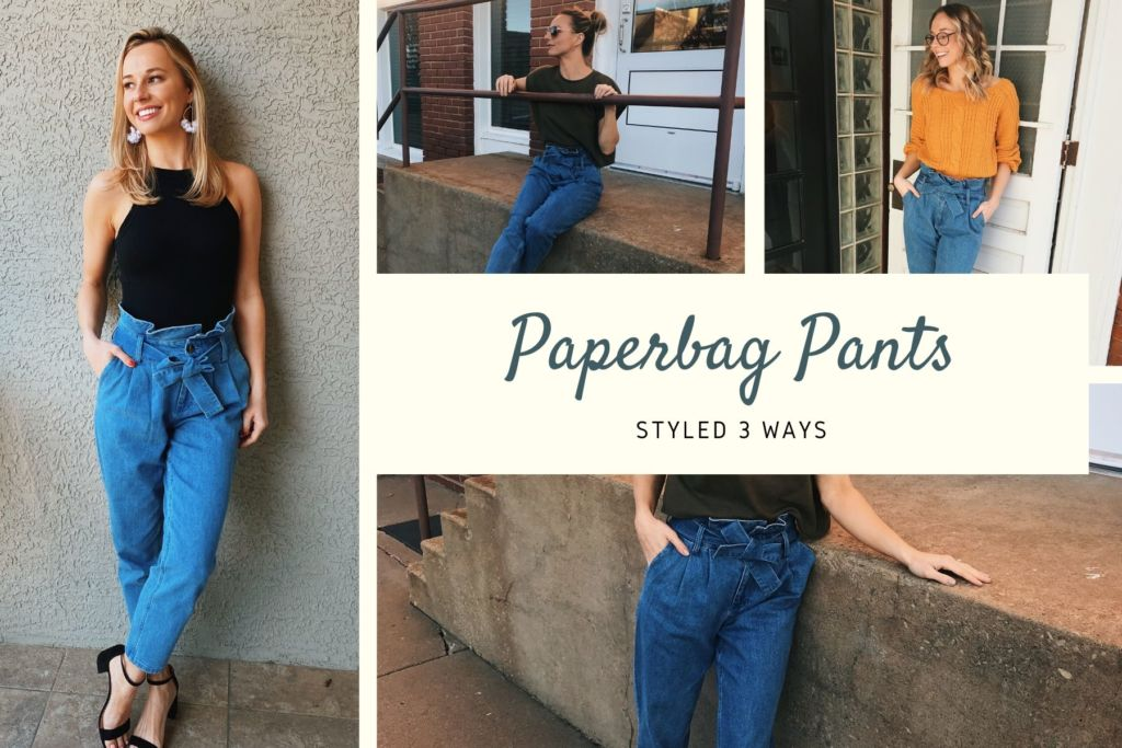 3 Ways To Style Paper Bag Pants