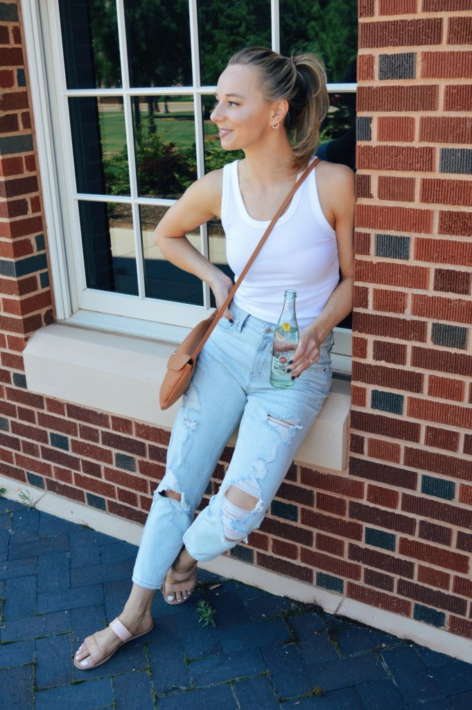 Summer Wardrobe - Ribbed Tanks and Ripped Jeans