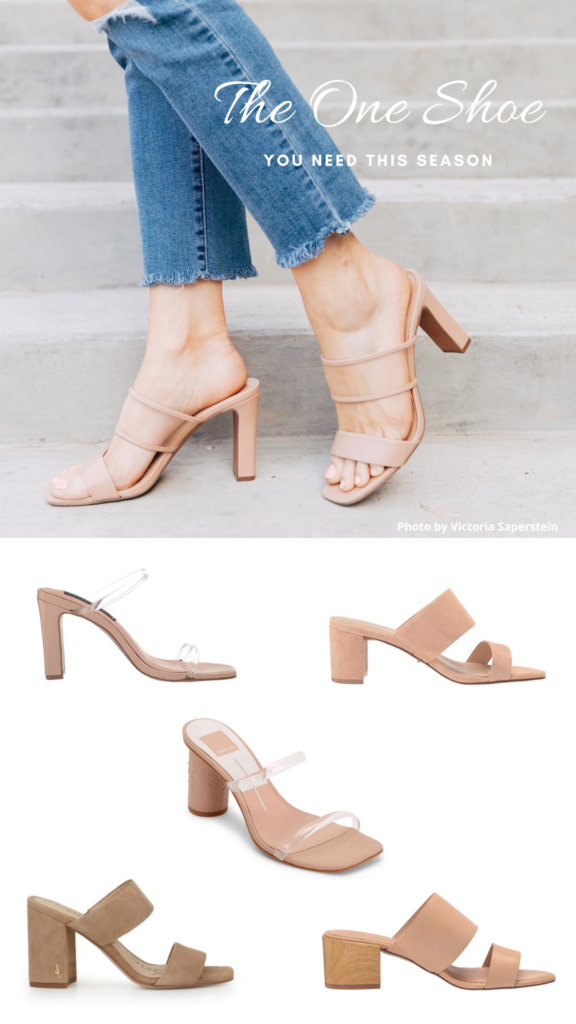 The One Pair of Shoes You Need This Season: Nude Mules