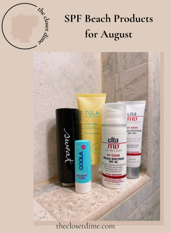 SPF Beach Products for August